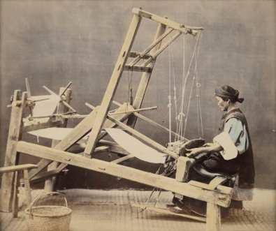 The 15,000-strong photo collection features everyday Chinese tradespeople from the mid-19th century, like this weaver. After being developed, some of the images were hand-colored by painters.