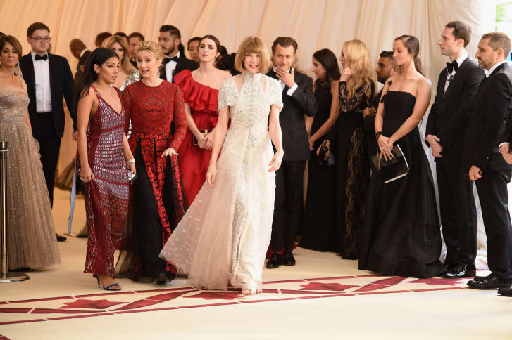 """Anna Wintour attends the """"Heavenly Bodies: Fashion & The Catholic Imagination"""" Costume Institute Gala at The Metropolitan Museum of Art on May 7, 2018 in New York City."""