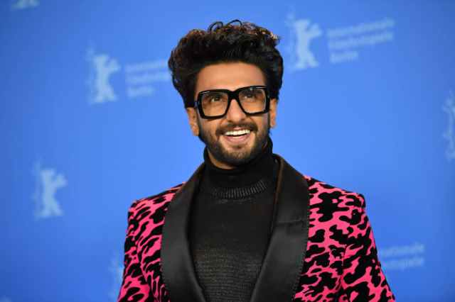 "Actor Ranveer Singh attends the photocall of the film ""Gully Boy"" at the Berlin International Film Festival on February 9, 2019."