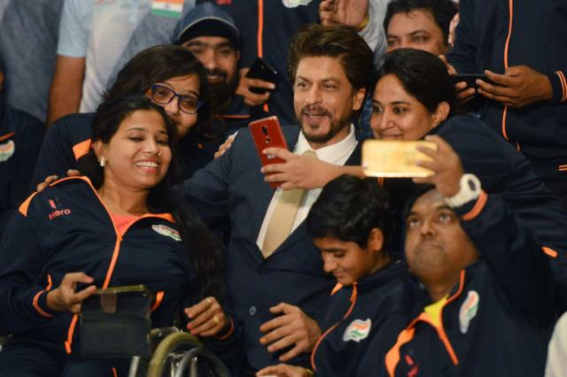 Actor Shah Rukh Khan at the 2018 Asian Para Games in New Delhi.