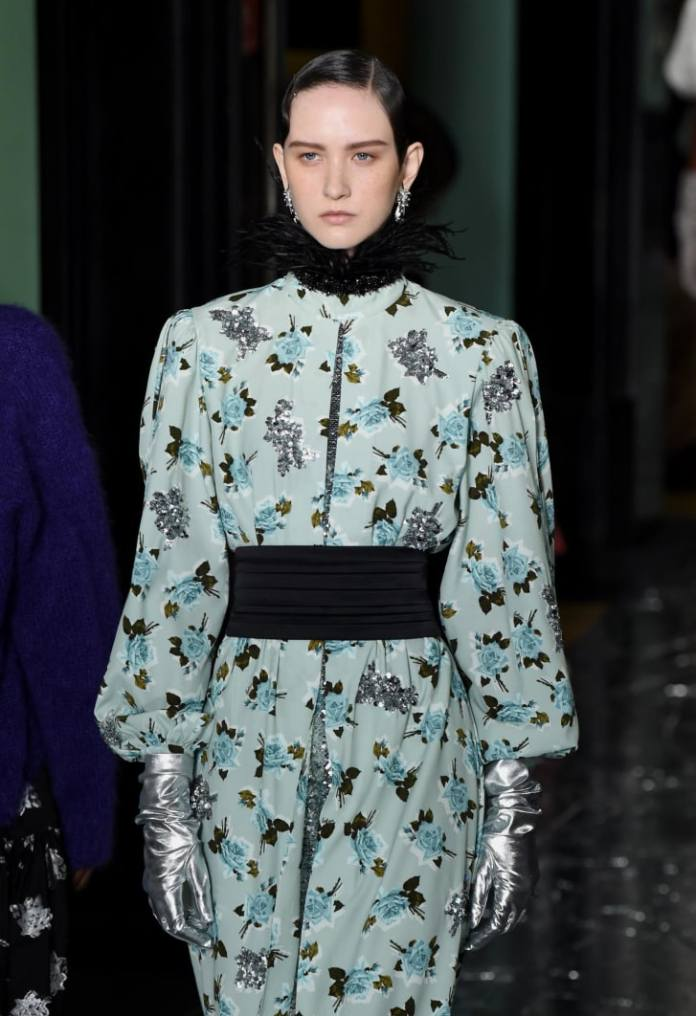 A look from the Erdem show at London Fashion Week in February.