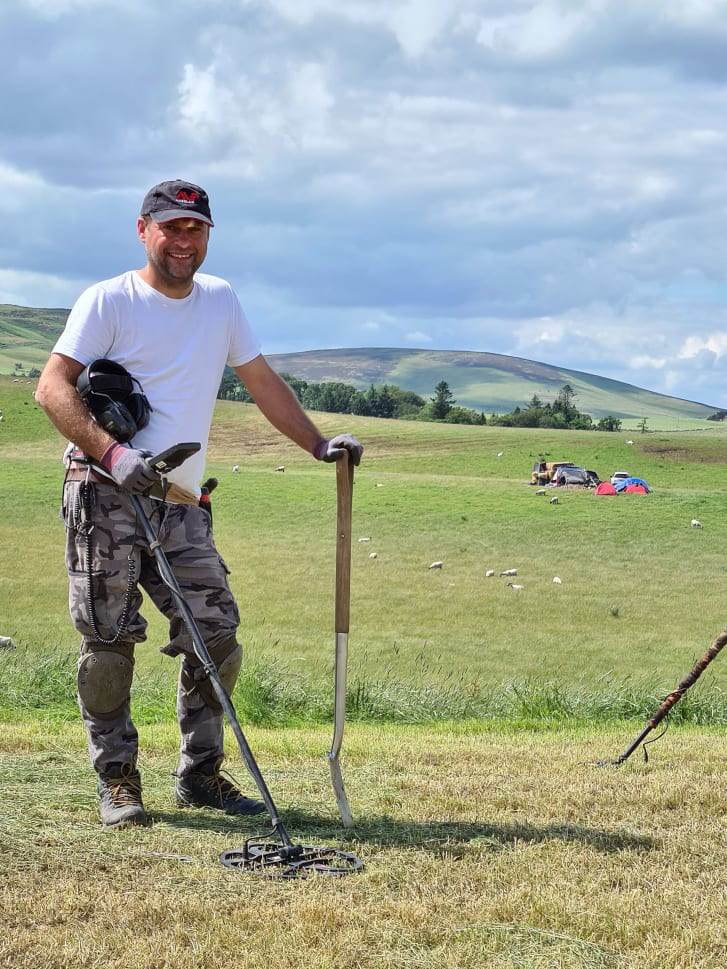 Mariusz Stepien made the rare discovery at a site near Peebles, Scotland.