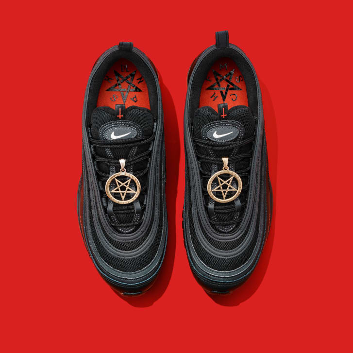 The 'Satan Shoes' will launch Monday as a limited-edition release.