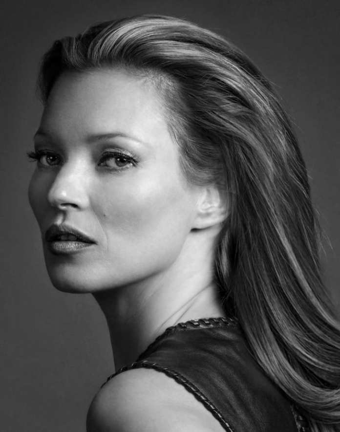 One of Gotts' portraits of supermodel Kate Moss.