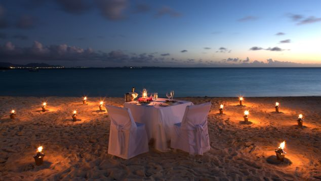 Private candlelit dinners can be arranged at Cap Juluca.