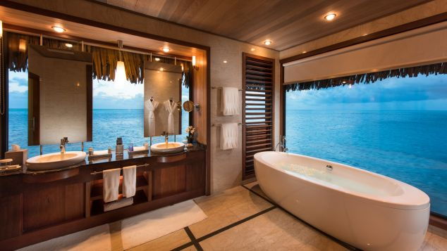 The Conrad Bora Bora Nui's bathrooms leave little to be desired.