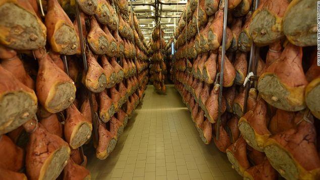 Parma ham -- a staple of Italian cooking.