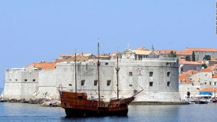 Walking the circumference of Dubrovnick's famous city walls takes about two hours.
