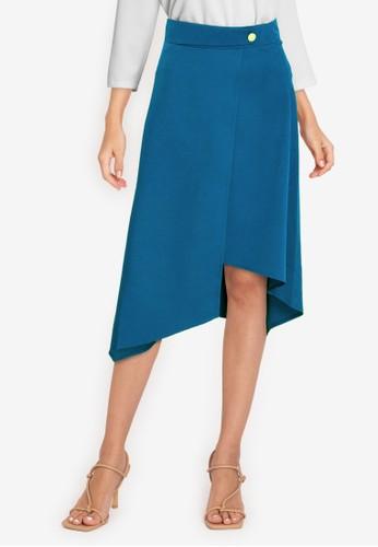 Jual ZALORA WORK Asymmetrical Hem Skirt Original | ZALORA Indonesia ®