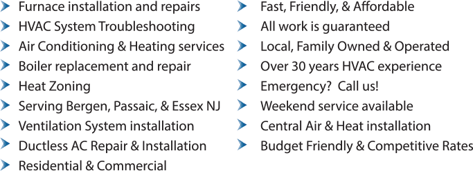 HVAC, Boilers, Furnace, & Zoning Services in Wyckoff NJ