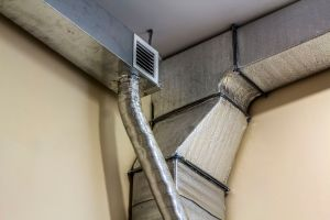 Industrial air duct ventilation equipment and pipe systems