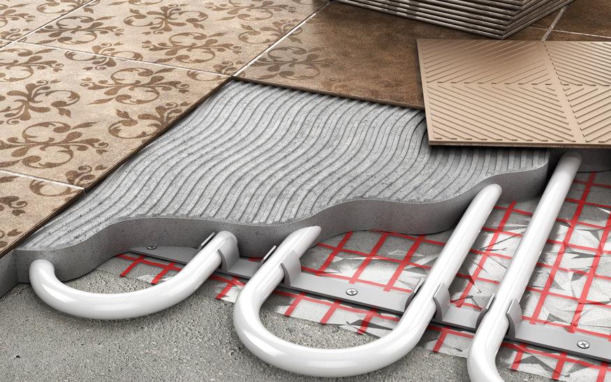 Heating concept. Underfloor heating.