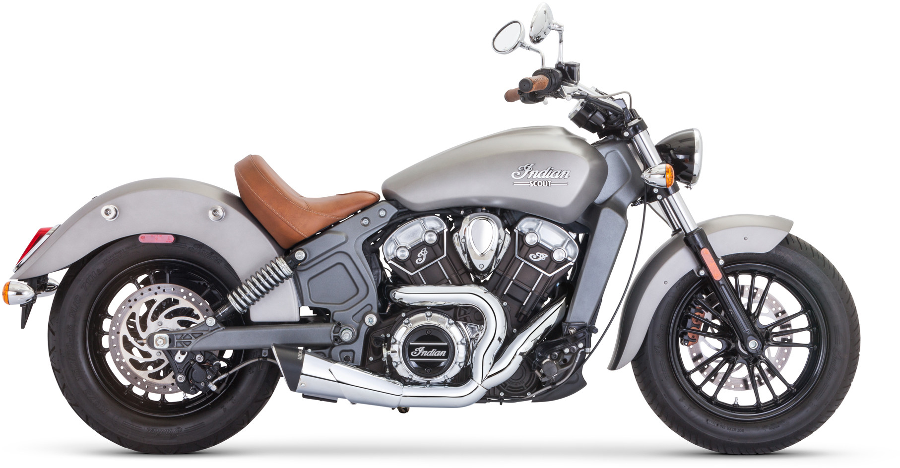 https dynamiccycleparts com product freedom scout combat shorty 2 into 1 exhaust chrome indian scout scout sixty scout bobber 2015 2020 2