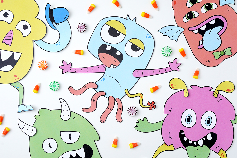 Make A Monster Kids Craft Activity