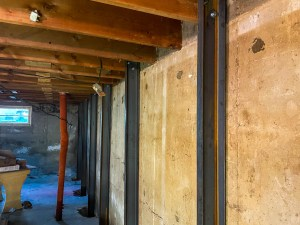 bracing a foundation in regina-steel 5 inch c channels