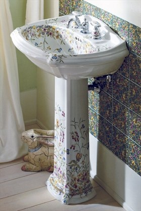 pedestal sinks are perches with panache