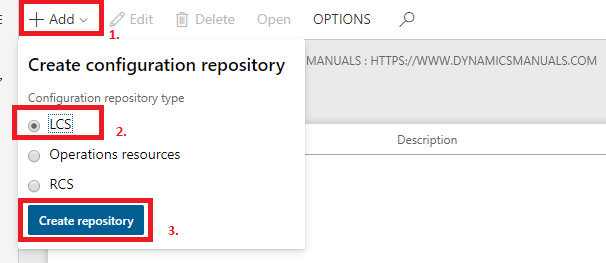 Electronic Reporting create configuration repository