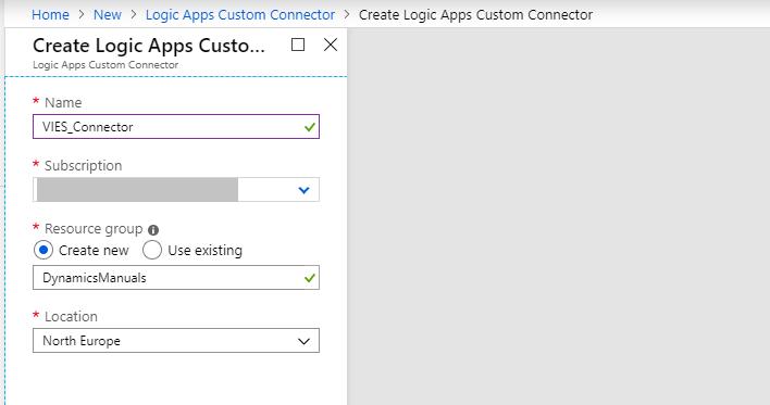 logic apps custom connector filled