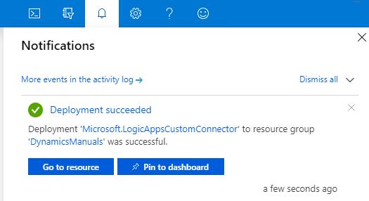 Create Logic Apps Custom Connector Notification