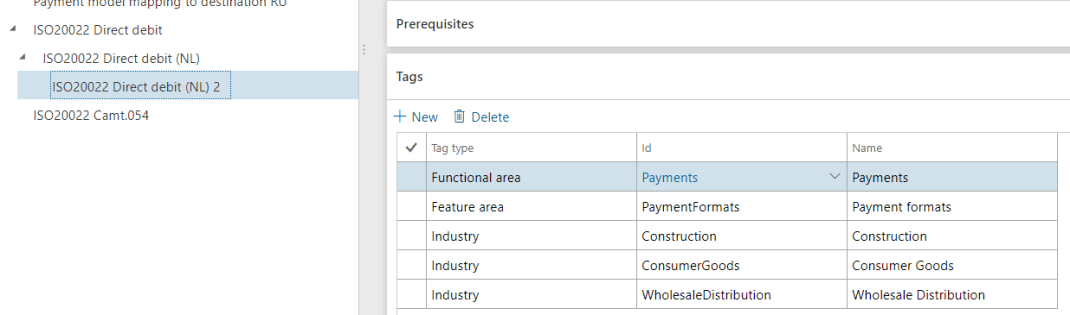 Electronic Reporting Localization Tags Filled In