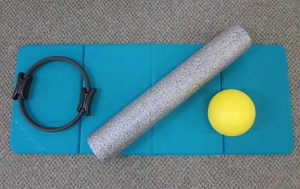 magic circle, roll, ball on mat