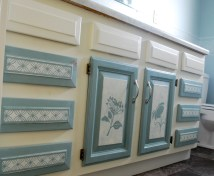 Latex paint on cabinet