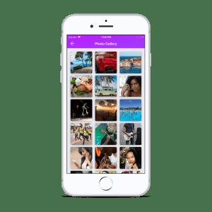 Influencer App Photo Gallery