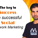 The key to success is a successful network marketing