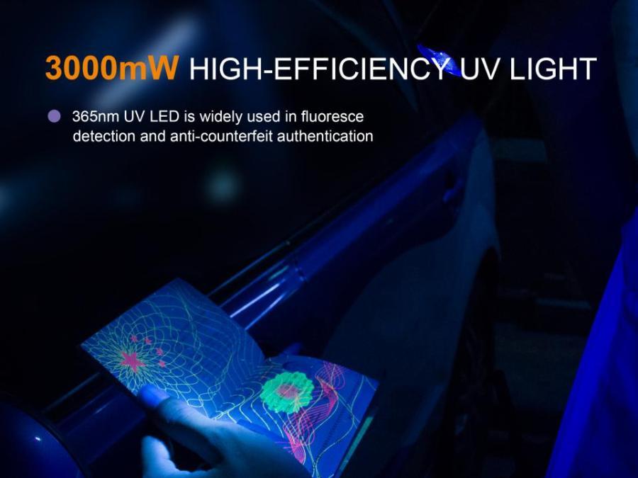 Taktická LED baterka Fenix TK25UV