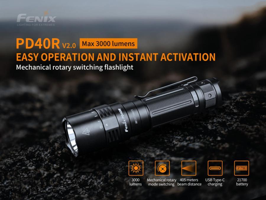 Nabíjacia LED baterka Fenix PD40R V2.0 12