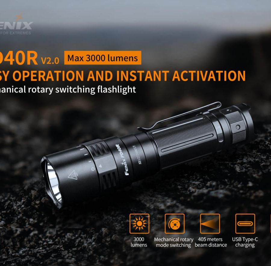 Nabíjacia LED baterka Fenix PD40R V2.0 25