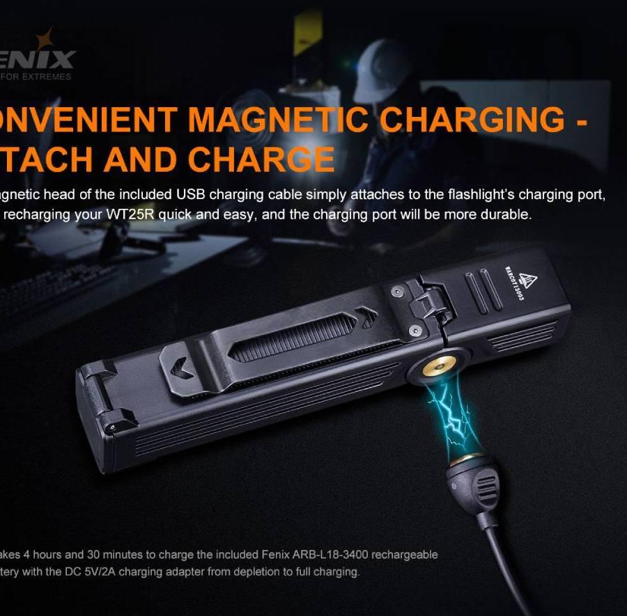 Univerzálna nabíjacia LED baterka Fenix WT25R