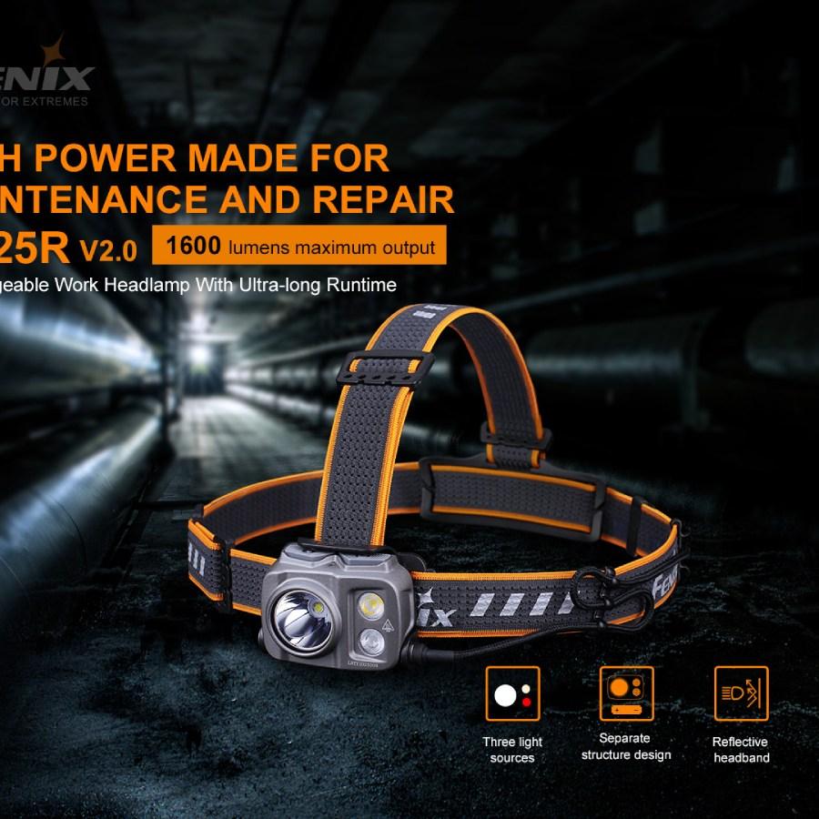 Nabíjacia LED čelovka Fenix HP25R V2.0