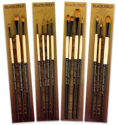 Black Gold Long Handle Set