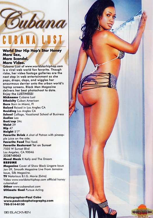 Cubana Lust in latest issue of Blackmen Magazine - courtesy of Paul Cobo
