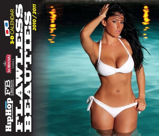 Sagia Castaneda on cover of HipHopWeekly 3D Calendar - shot by OTB Photography