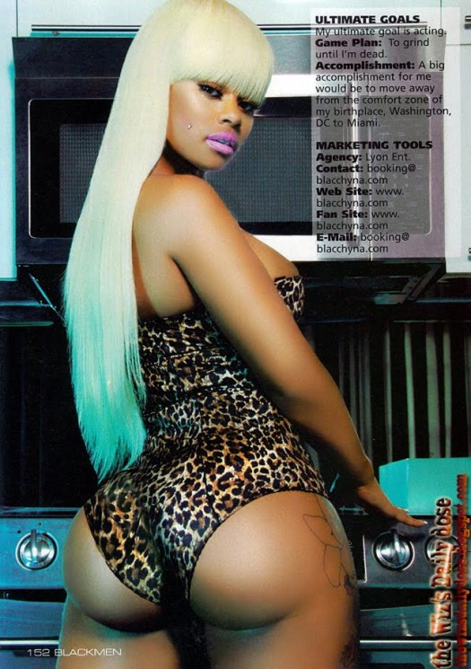 BlacChyna in the latest issue of Blackmen - scans courtesy of WizsDailyDose