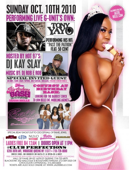 Jazzie Belle's 3rd Annual Birthday Bash in NY @ Club Perfections on Oct 10th