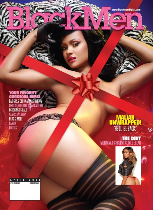 Maliah Michel (shoulda been) on cover of latest issue of Blackmen