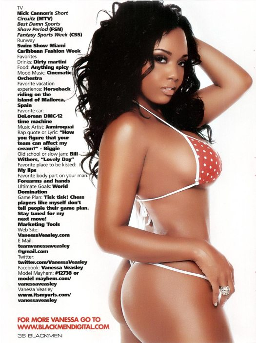 Vanessa Veasley in Blackmen Magazine - courtesy of IEC Studios