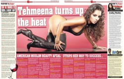 Tehmeena Afzul in UK's Eastern Eye
