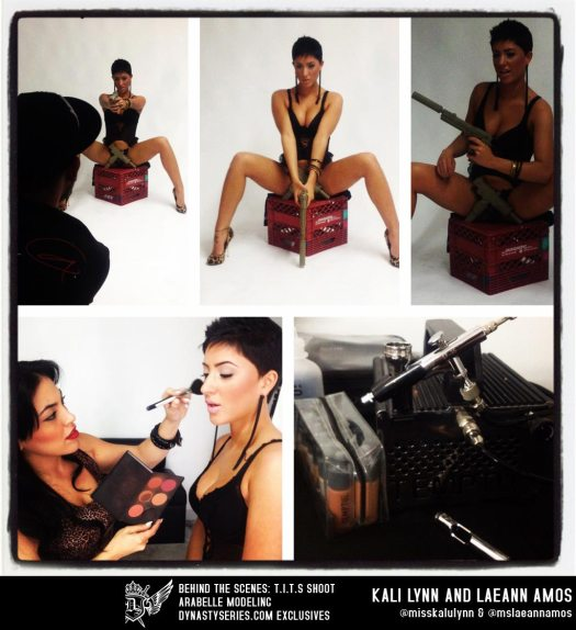 Behind the Scenes with Laeann Amos and Kali Lynn shooting for T.I.T.S. - courtesy of Arabelle Modeling