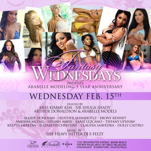 Arabelle Modeling 5th Year Anniversary Party Wed Feb 15th in Miami