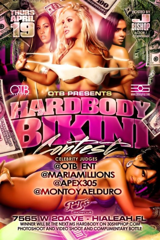 OTB Photography Hardbody Bikini Contest April 19th in Miami