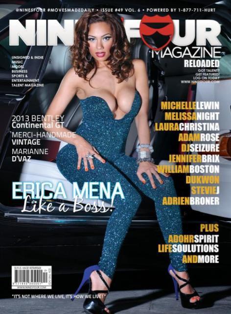Erica Mena @Erica_Mena on the cover of 954 Magazine