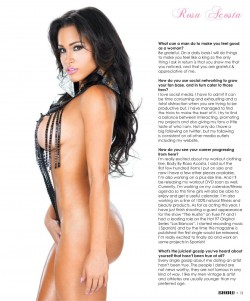 Rosa Acosta @rosaacosta in latest issue of Black Lingerie