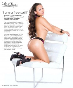 Suzi Q @ThisIsSuzi in latest issue of Black Lingerie
