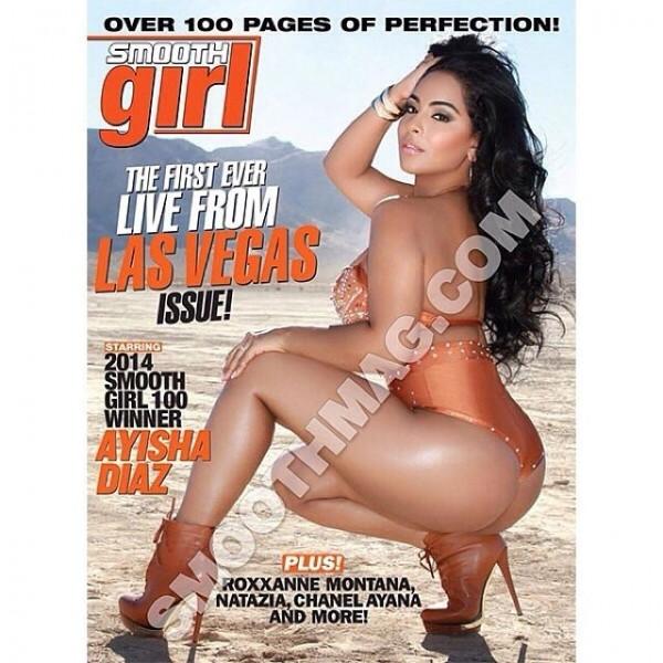 Ayisha Diaz @ayishadiaz on the cover of SmoothGirl Magazine