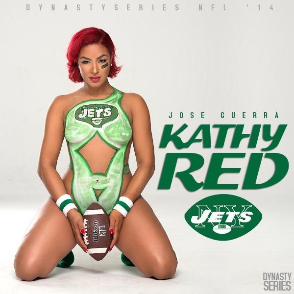 Kathy Red @KathyRed_: NFL Bodypaint 2014 – NY Jets – Jose Guerra