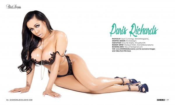 Paris Richards @Paris_Richards in Black Lingerie #23 - SHOW Magazine